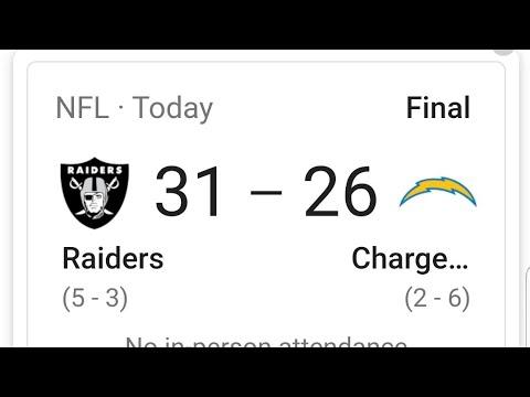 Las Vegas Raiders Defeat Chargers 31-26 In A 4th Quarter Nail Biter - By Joseph Armendariz