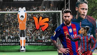 Messi, Neymar Jr,  and Ronaldinho vs Robot Goalkeeper
