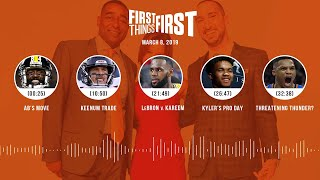 First Things First audio podcast(3.8.19)Cris Carter, Nick Wright, Jenna Wolfe | FIRST THINGS FIRST