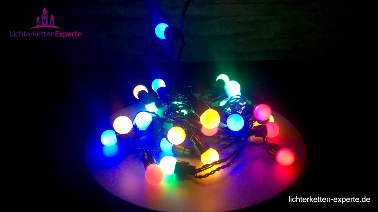led lichterkette party partylichterkette mit bunten leuchten youtube. Black Bedroom Furniture Sets. Home Design Ideas