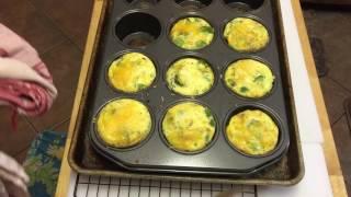 Crustless quiche in muffin tin