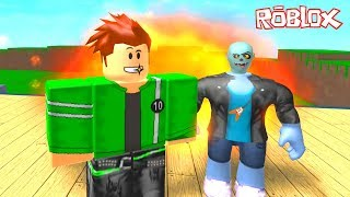 Zombik ve Steve Ben 10 Oldu 🕸 - Roblox 4 Player Superhero Tycoon