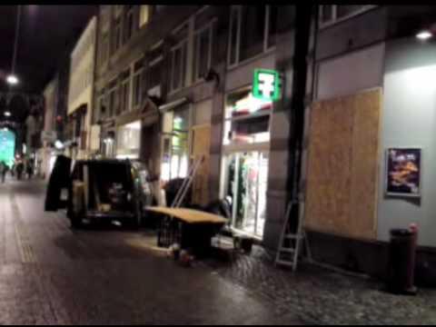 Boarding up windows amidst high security in Copenhagen