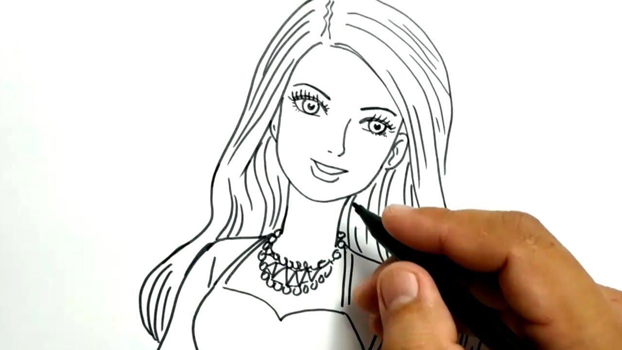 Cara Menggambar Wajah Barbie Dengan Mudah Youtube