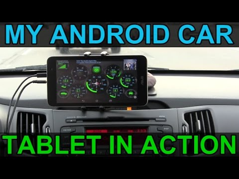 My Personal Android Car Tablet Infotainment System in Action on the Road