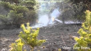 Brand verwoest 1.5 hectare natuur langs Heetweg Kootwijk 28 04 2013