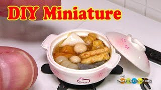 How to make miniature fake food - Miniature Oden (Japanese Fish Cak...