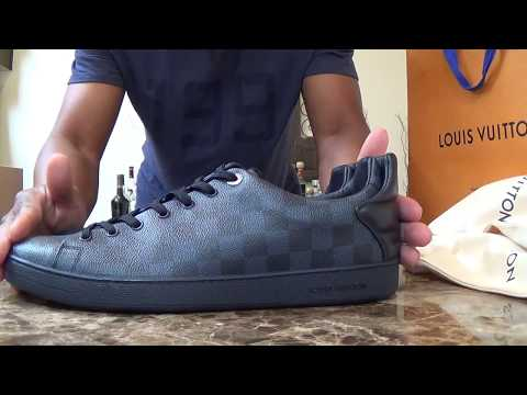 LOUIS VUITTON FrontRow Sneaker ~ 2017  Damier Cobalt Blue