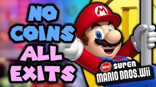 Can you find every Secret Exit in New Super Mario Bros Wii WITHOUT COINS?