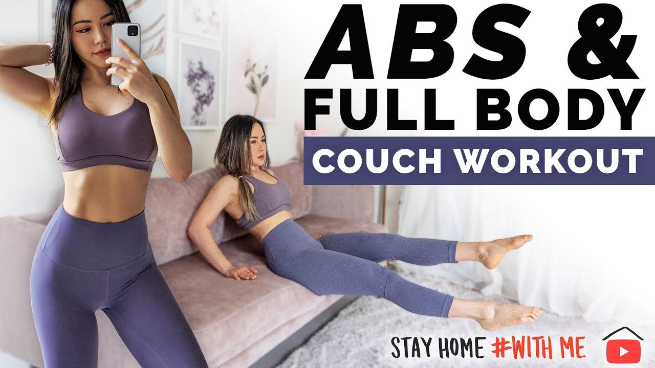 ABS & Full Body Couch Workout | At Home No Equipment Routine