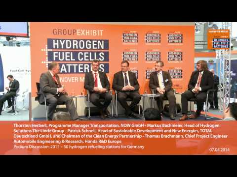 Podium Discussion: 2015 -- 50 hydrogen refueling stations for Germany
