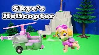 PAW PATROL Nickelodeon Paw Patrol Skye Helicopter a Paw Patrol Video Toy Review
