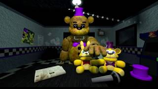 (FNAF SFM) Fredbear jumpscare (improved)
