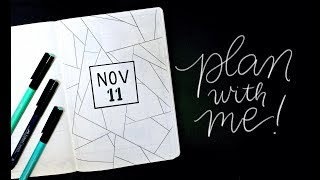 Plan With Me! November Bullet Journal Set-up Ideas Simple Geometric