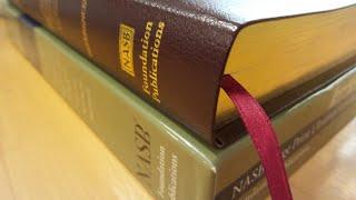 NASB Ultrathin bible in Burgundy Bonded Leather