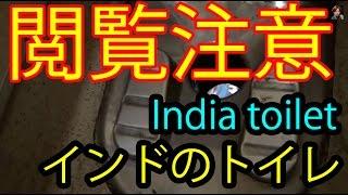 【閲覧注意!】インドの寝台車のトイレはこうだ!Toilet Indian dirty