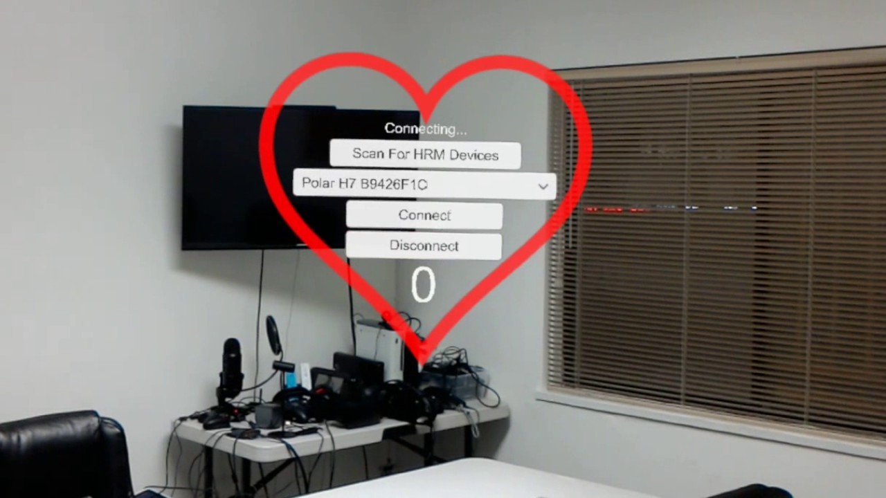 HoloLens Heart Rate Monitor Bluetooth LE Plugin Demo