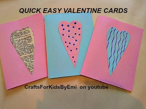 Quick Easy Valentine Cards Printer paper heart shapes 2016  YouTube