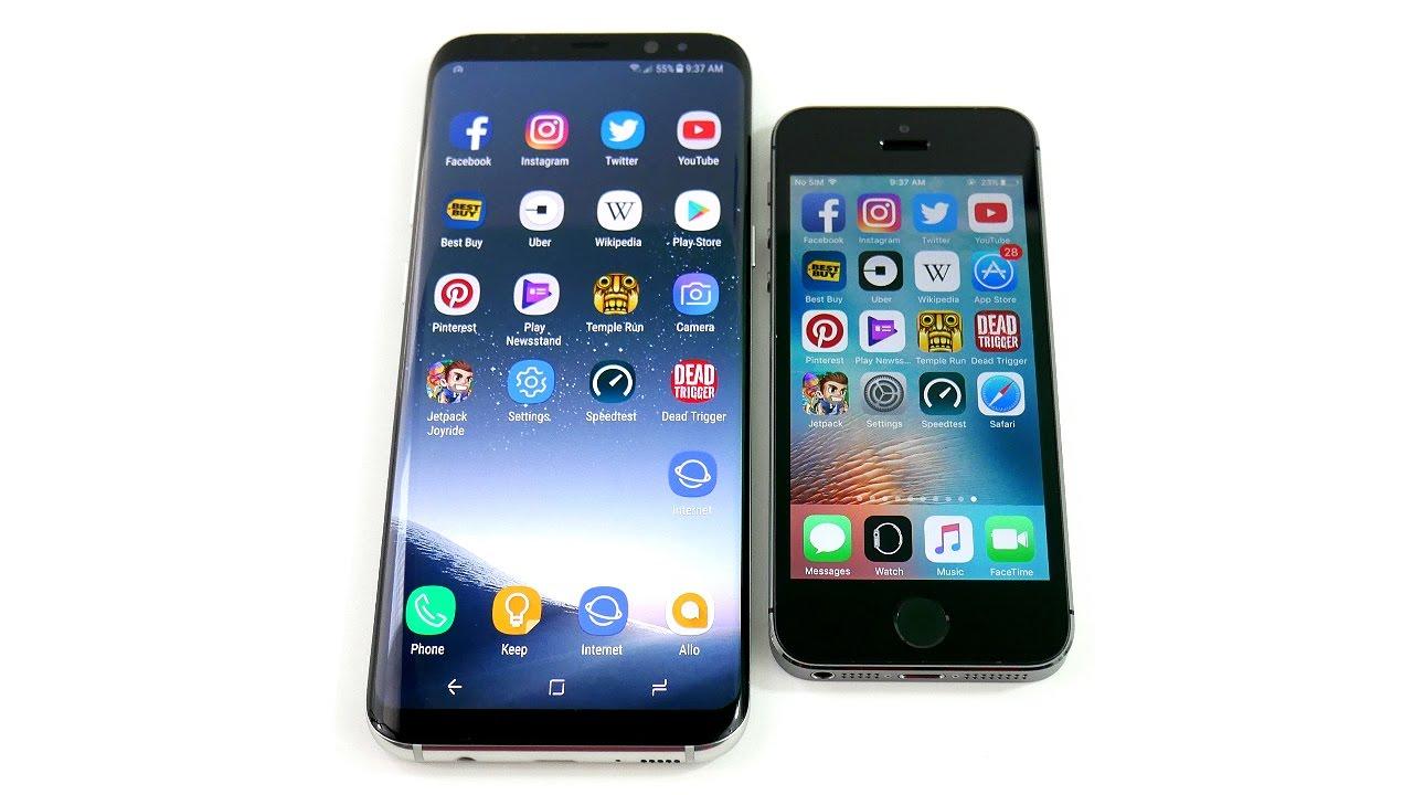 samsung galaxy s5 vs iphone 5s speed test