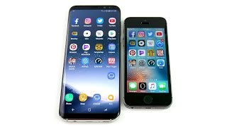 Galaxy S8 Plus vs iPhone 5S! - Speed Test