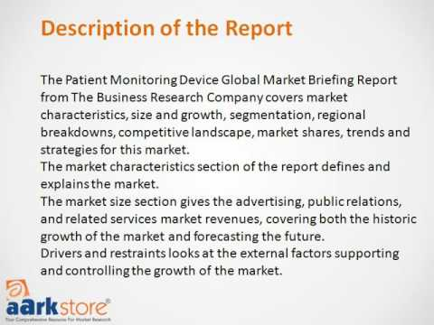 Patient Monitoring Device Global Market Briefing 2016