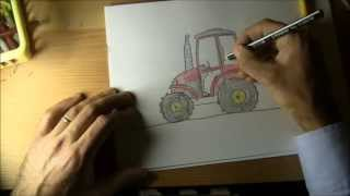 How to Draw a Tractor (Step by Step)
