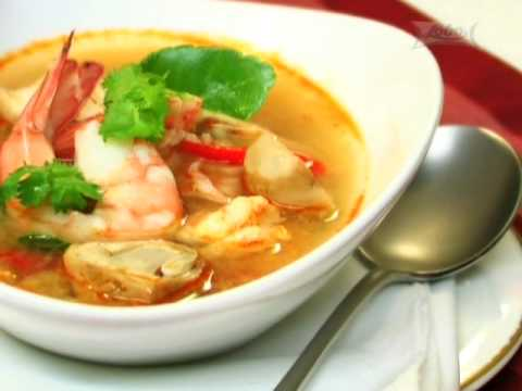 Thai Cooking Recipe: Shrimp and Coconut Sprouts in Spicy Tom Yum Soup from Lobo (www.lobo.co.th)