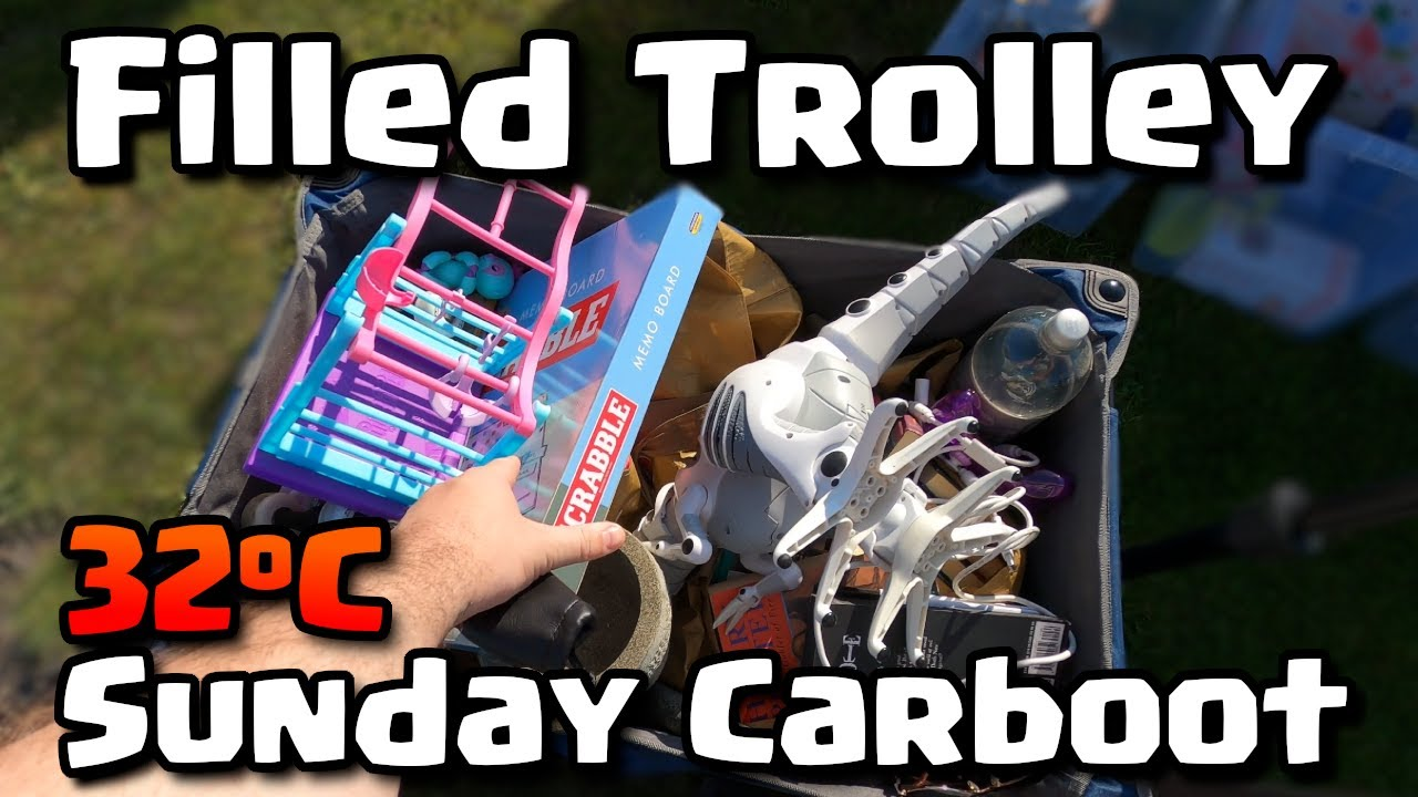 Download Filled Trolley In Blistering 32°C Heat - Sunday Carboot Hunting
