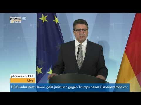 Deutsch-türkische Beziehung: Treffen von Sigmar Gabriel und Mevlüt Cavusoglu am 08.03.2017