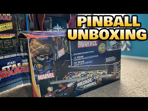 Arcade1Up Marvel Pinball Unboxing! from COOLTOY