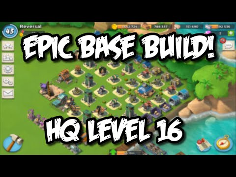 Boom Beach - HQ 16 Base Defense Strategy Talk, Activity Log Defenses!