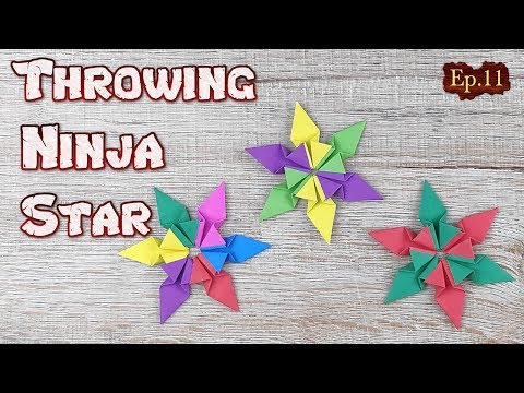 Origami Throwing Ninja Star   How To Making a Ninja Weapon Tutorial   DIY Paper Blade Shuriken Ep.11