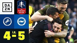 Millwalls Torwartpatzer krönt irre Aufholjagd: Millwall - Brighton 4:5 i.E.   FA Cup   Highlights