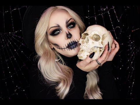 Easy Glam Skeleton Makeup Tutorial thumbnail