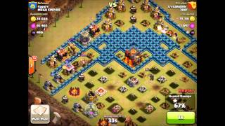 Clash of Clans With Beaker: 300! vs Mega : Epic Top Clan WAR!