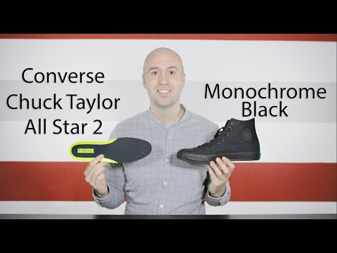 Chuck Taylor All Star 2 Mono Black Review + Unboxing + Close up + On feet Mr Stoltz 2016
