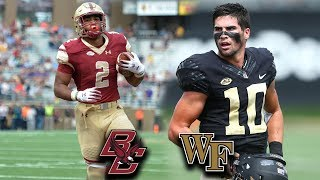 Boston College vs. Wake Forest Preview: An Atlantic Tone-Setter