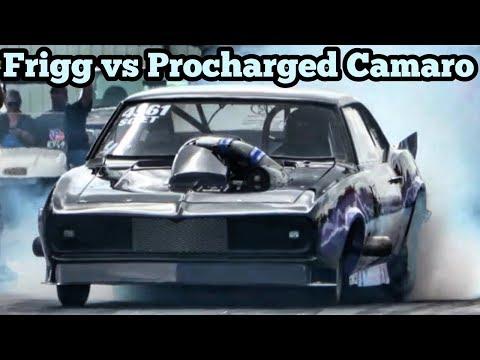 The Frigg vs Procharged Camaro at Bounty Hunters No Prep