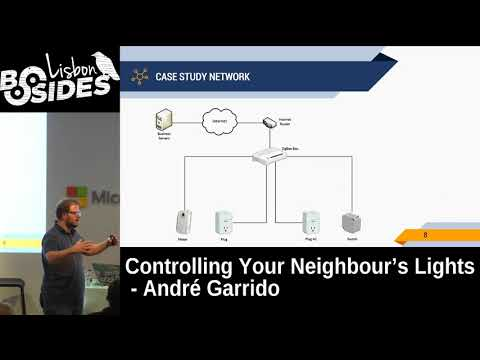 BSides Lisbon 2017 - Controlling your neighbour's lights by André Garrido