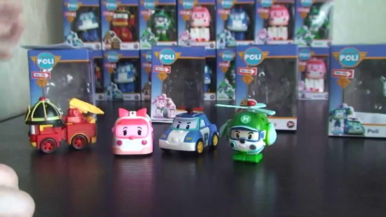 В коллекциях тм robocar poli четыре основных героя – это машины трансформеры эмбер (скорая помощь), поли (полицейская машина), хели ( вертолет), рой (пожарная машина). Трансформировать робота в машину очень просто, с этим заданием справится каждый. Размеры машинок колеблются от 6.