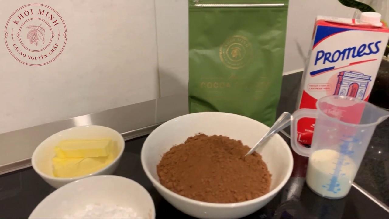 Làm Chocolate từ bột cacao đơn giản
