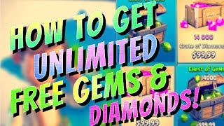 HOW TO Get Unlimited FREE Diamonds Boom Beach / Gems Clash of Clans - No Jailbreak - The Best Way!