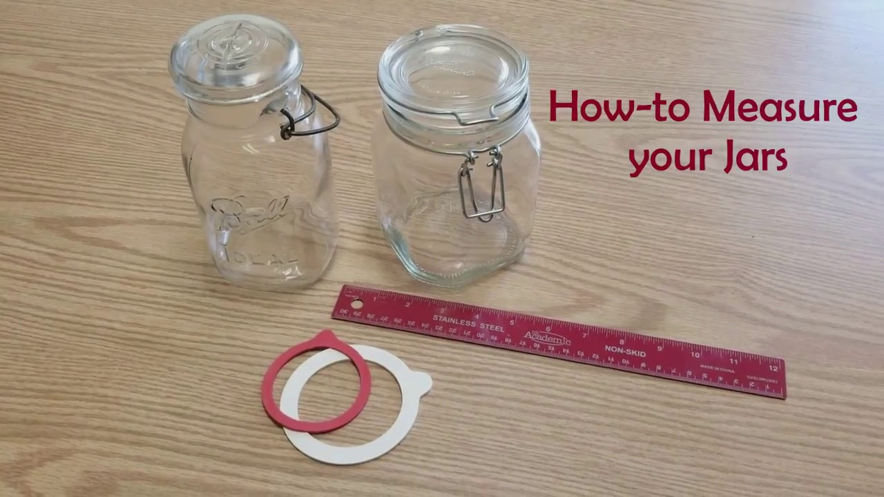 How To Measure Your Jars For Rubber Rings Youtube