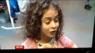 BBC Breakfast news reporter asks stupid question to a 7-year-old girl. She sets him right.