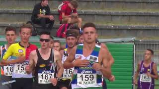 5000m – Finale – JUM – Championnats de France Jeunes CA JU – 20/07/2018 – Bondoufle