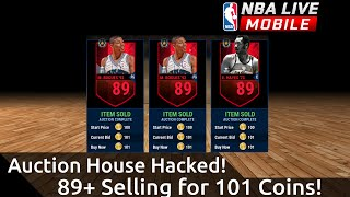 89+ Selling for 101 Coins! Auction House Hacked! - NBA Live Mobile