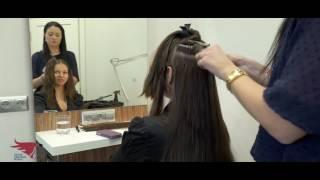 Наращивание волос Глафире Козулиной