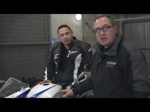 International Bridgestone Handy Race : ITV Philippe Lefevre présentant les différentes machines