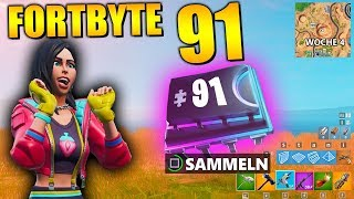 Fortnite Fortbyte 91 🗺️ Week 4 | All Fortbyte Places Season 9 Utopia Skin English