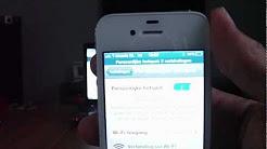 iPhone 4s...as personal hotspot(persoonlijke hotspot instellen)